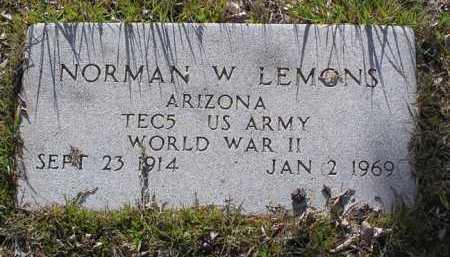 LEMONS, NORMAN WILLIAM - Yavapai County, Arizona | NORMAN WILLIAM LEMONS - Arizona Gravestone Photos