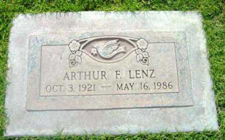 LENZ, ARTHUR FRANKLIN - Yavapai County, Arizona | ARTHUR FRANKLIN LENZ - Arizona Gravestone Photos