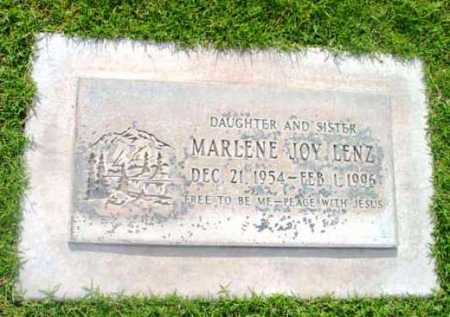 LENZ, MARLENE JOY - Yavapai County, Arizona | MARLENE JOY LENZ - Arizona Gravestone Photos