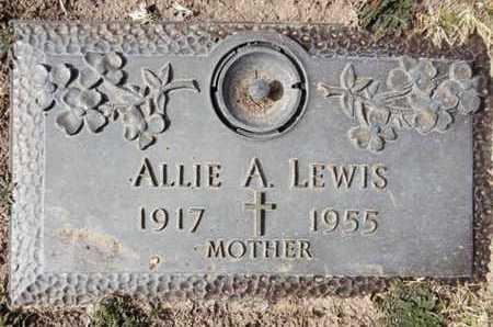 SUTTON LEWIS, ALLIE A. - Yavapai County, Arizona | ALLIE A. SUTTON LEWIS - Arizona Gravestone Photos
