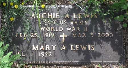 LEWIS, ARCHIE ANTHONY - Yavapai County, Arizona | ARCHIE ANTHONY LEWIS - Arizona Gravestone Photos