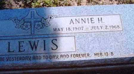 LEWIS, ANNIE H. - Yavapai County, Arizona | ANNIE H. LEWIS - Arizona Gravestone Photos