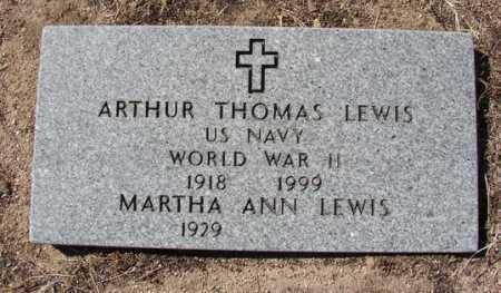 LEWIS, ARTHUR THOMAS - Yavapai County, Arizona | ARTHUR THOMAS LEWIS - Arizona Gravestone Photos