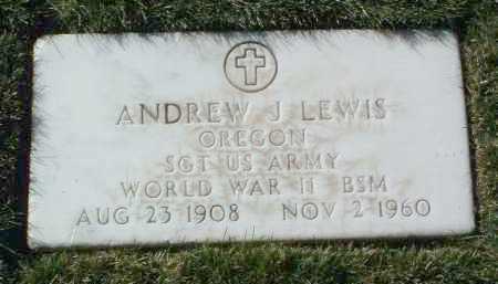 LEWIS, ANDREW J. - Yavapai County, Arizona   ANDREW J. LEWIS - Arizona Gravestone Photos