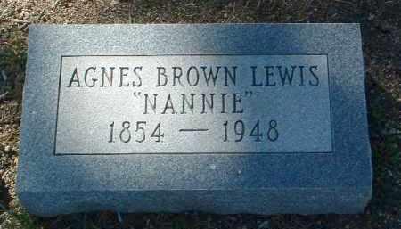 LEWIS, AGNES (NANNIE) - Yavapai County, Arizona   AGNES (NANNIE) LEWIS - Arizona Gravestone Photos