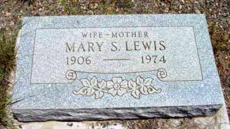 LEWIS, MARY S. - Yavapai County, Arizona   MARY S. LEWIS - Arizona Gravestone Photos