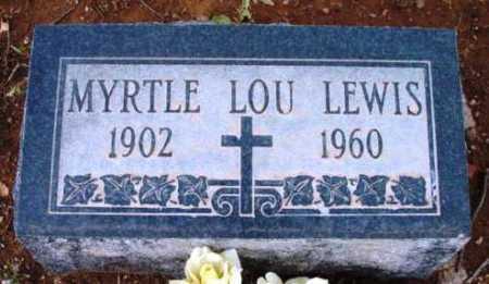 WINGET LEWIS, MYRTLE LOU - Yavapai County, Arizona   MYRTLE LOU WINGET LEWIS - Arizona Gravestone Photos
