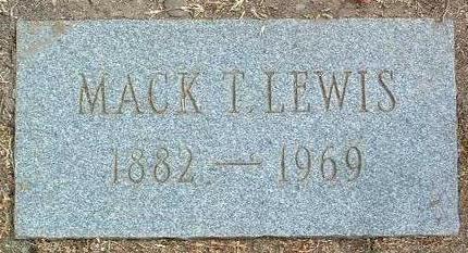 LEWIS, MACK T. - Yavapai County, Arizona | MACK T. LEWIS - Arizona Gravestone Photos