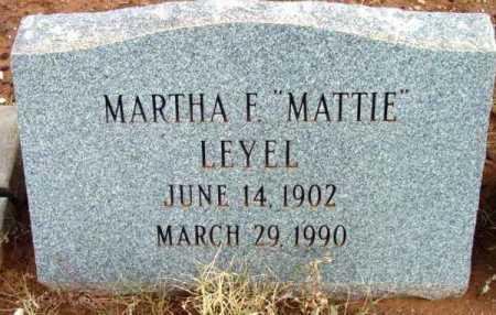 LEYEL, MARTHA F. (MATTIE) - Yavapai County, Arizona | MARTHA F. (MATTIE) LEYEL - Arizona Gravestone Photos