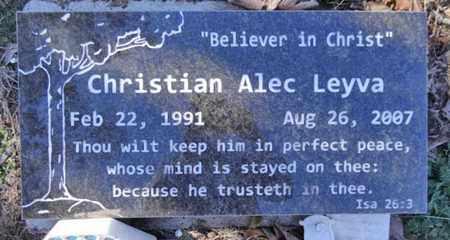 LEYVA, CHRISTIAN ALEC - Yavapai County, Arizona   CHRISTIAN ALEC LEYVA - Arizona Gravestone Photos