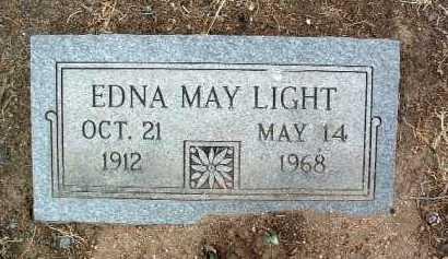 LIGHT, EDNA MAY - Yavapai County, Arizona | EDNA MAY LIGHT - Arizona Gravestone Photos