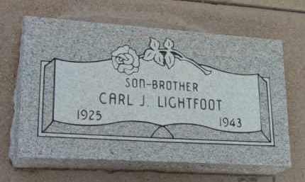 LIGHTFOOT, JAMES CARL - Yavapai County, Arizona | JAMES CARL LIGHTFOOT - Arizona Gravestone Photos