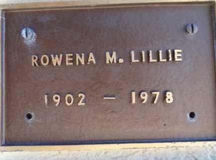 HUTCHINSON LILLIE, R. M. - Yavapai County, Arizona | R. M. HUTCHINSON LILLIE - Arizona Gravestone Photos
