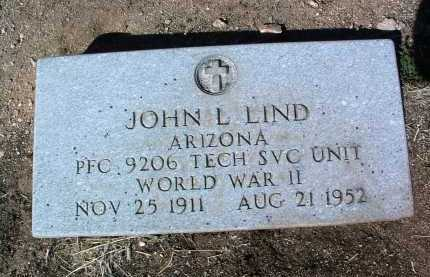 LIND, JOHN LEROY - Yavapai County, Arizona | JOHN LEROY LIND - Arizona Gravestone Photos