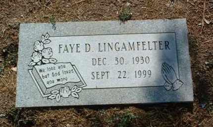 LINGAMFELTER, FAYE D. - Yavapai County, Arizona | FAYE D. LINGAMFELTER - Arizona Gravestone Photos