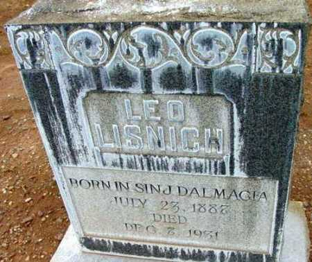 LISNICH, LEO - Yavapai County, Arizona | LEO LISNICH - Arizona Gravestone Photos