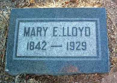 LLOYD, MARY E. - Yavapai County, Arizona   MARY E. LLOYD - Arizona Gravestone Photos
