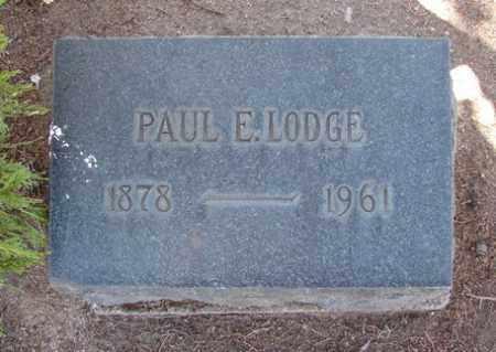 LODGE, PAUL EDMOND - Yavapai County, Arizona   PAUL EDMOND LODGE - Arizona Gravestone Photos