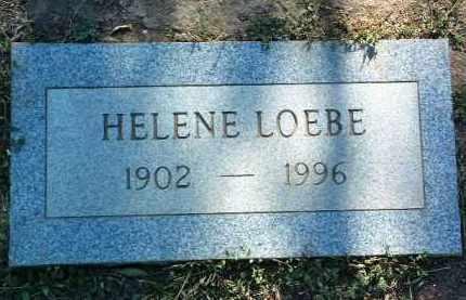 LOEBE, HELENE - Yavapai County, Arizona | HELENE LOEBE - Arizona Gravestone Photos