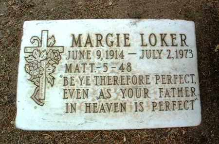 LOKER, MARJORIE E. (MARGIE) - Yavapai County, Arizona | MARJORIE E. (MARGIE) LOKER - Arizona Gravestone Photos