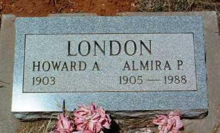 LONDON, HOWARD ALONZO - Yavapai County, Arizona | HOWARD ALONZO LONDON - Arizona Gravestone Photos