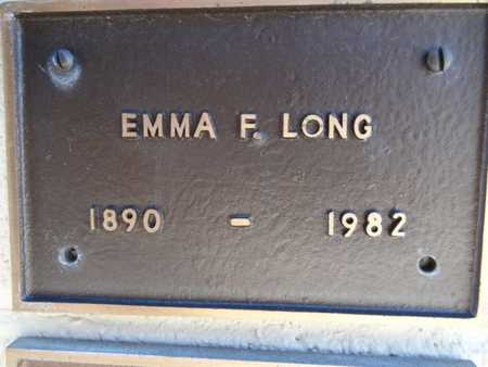 LONG, EMMA F. - Yavapai County, Arizona   EMMA F. LONG - Arizona Gravestone Photos