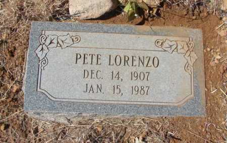 LORENZO, PETE - Yavapai County, Arizona   PETE LORENZO - Arizona Gravestone Photos