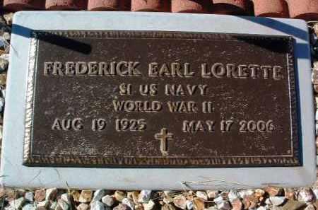 LORETTE, FREDERICK EARL - Yavapai County, Arizona | FREDERICK EARL LORETTE - Arizona Gravestone Photos