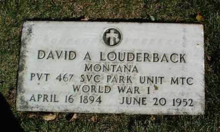 LOUDERBACK, DAVID A. - Yavapai County, Arizona   DAVID A. LOUDERBACK - Arizona Gravestone Photos