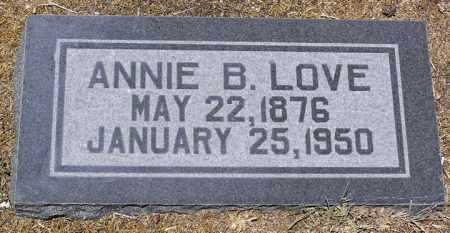 FAULKNER LOVE, ANNA BELL (ANNIE) - Yavapai County, Arizona | ANNA BELL (ANNIE) FAULKNER LOVE - Arizona Gravestone Photos
