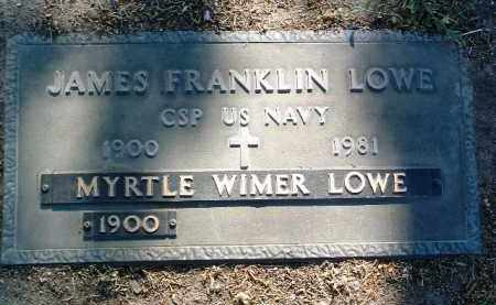 LOWE, JAMES FRANKLIN - Yavapai County, Arizona | JAMES FRANKLIN LOWE - Arizona Gravestone Photos