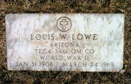 LOWE, LOUIS W. (LOUIE) - Yavapai County, Arizona | LOUIS W. (LOUIE) LOWE - Arizona Gravestone Photos