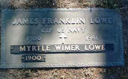 WIMER LOWE, MYRTLE EDNA - Yavapai County, Arizona | MYRTLE EDNA WIMER LOWE - Arizona Gravestone Photos