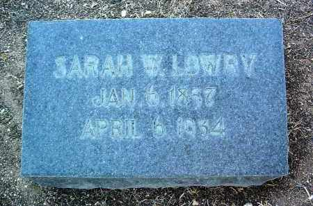 WILTERWOOD LOWRY, SARAH W. - Yavapai County, Arizona | SARAH W. WILTERWOOD LOWRY - Arizona Gravestone Photos