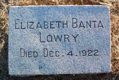 BANTA LOWRY, SARAH E. - Yavapai County, Arizona | SARAH E. BANTA LOWRY - Arizona Gravestone Photos