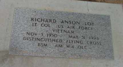 LOY, RICHARD ANSON - Yavapai County, Arizona | RICHARD ANSON LOY - Arizona Gravestone Photos