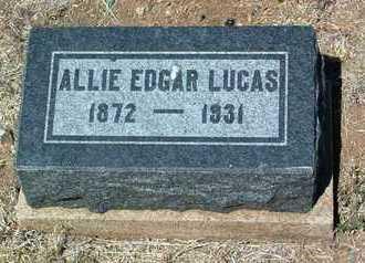 LUCAS, ALLIE EDGAR - Yavapai County, Arizona   ALLIE EDGAR LUCAS - Arizona Gravestone Photos