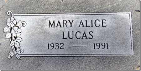 LUCAS, MARY ALICE - Yavapai County, Arizona | MARY ALICE LUCAS - Arizona Gravestone Photos