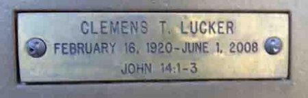 LUCKER, CLEMENS THOMAS - Yavapai County, Arizona | CLEMENS THOMAS LUCKER - Arizona Gravestone Photos