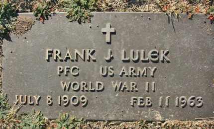 LULEK, FRANK JAMES - Yavapai County, Arizona | FRANK JAMES LULEK - Arizona Gravestone Photos