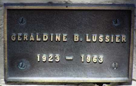 LUSSIER, GERALDINE BELLE - Yavapai County, Arizona | GERALDINE BELLE LUSSIER - Arizona Gravestone Photos