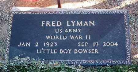 LYMAN, FRED - Yavapai County, Arizona | FRED LYMAN - Arizona Gravestone Photos