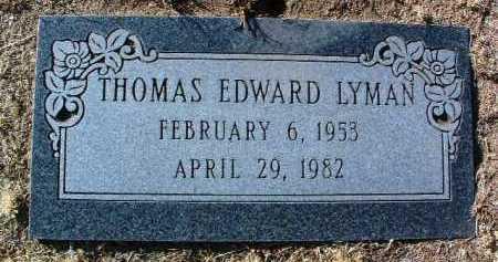 LYMAN, THOMAS EDWARD - Yavapai County, Arizona | THOMAS EDWARD LYMAN - Arizona Gravestone Photos