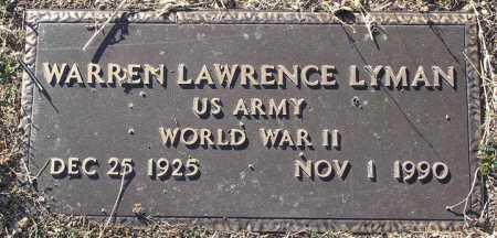 LYMAN, WARREN LAWRENCE - Yavapai County, Arizona | WARREN LAWRENCE LYMAN - Arizona Gravestone Photos