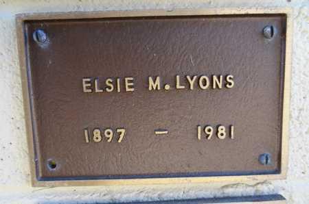 LYONS, ELSIE M. - Yavapai County, Arizona | ELSIE M. LYONS - Arizona Gravestone Photos