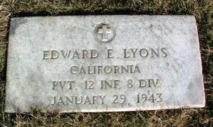 LYONS, EDWARD E. - Yavapai County, Arizona   EDWARD E. LYONS - Arizona Gravestone Photos