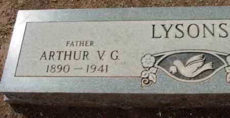 LYSONS, ARTHUR V. G. - Yavapai County, Arizona   ARTHUR V. G. LYSONS - Arizona Gravestone Photos
