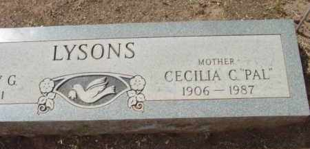 LYSONS, CECELIA CAROLINE - Yavapai County, Arizona | CECELIA CAROLINE LYSONS - Arizona Gravestone Photos