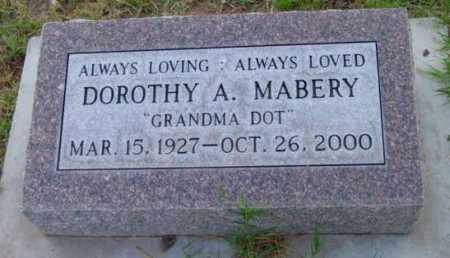 MABERY, DOROTHY A. - Yavapai County, Arizona   DOROTHY A. MABERY - Arizona Gravestone Photos
