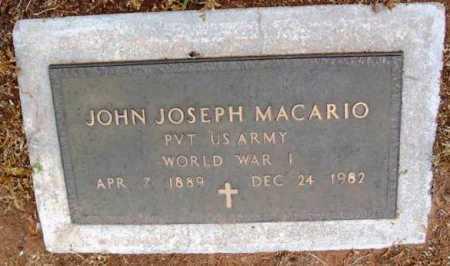 MACARIO, JOHN JOSEPH - Yavapai County, Arizona | JOHN JOSEPH MACARIO - Arizona Gravestone Photos